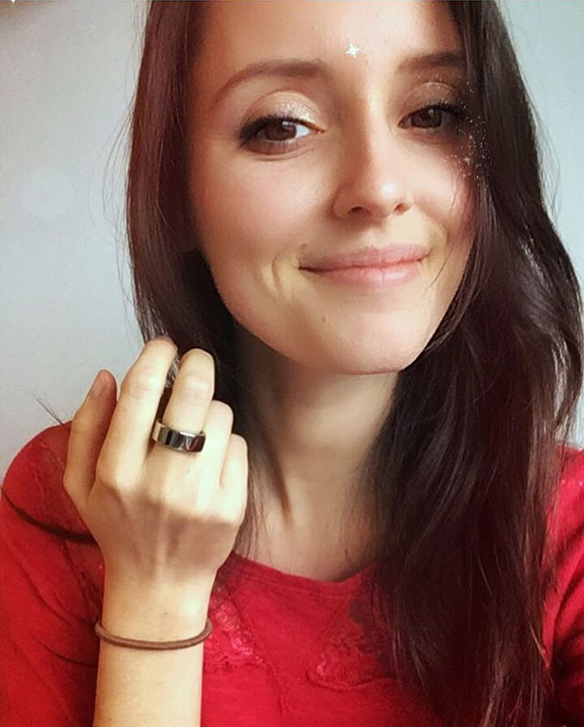 wearing the Oura ring