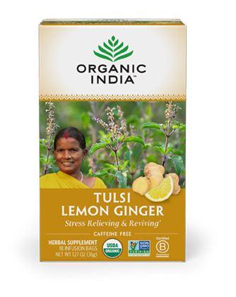tulsi lemon ginger organic india